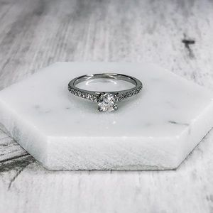 14k White Gold Certified Diamond Engagement Ring